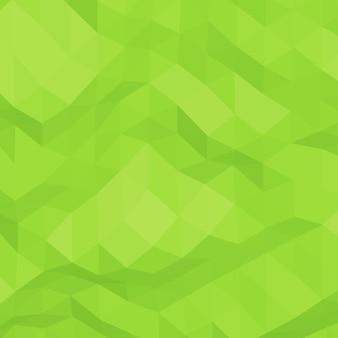 緑の抽象的な幾何学的なしわくちゃの三角形の低ポリスタイルの背景