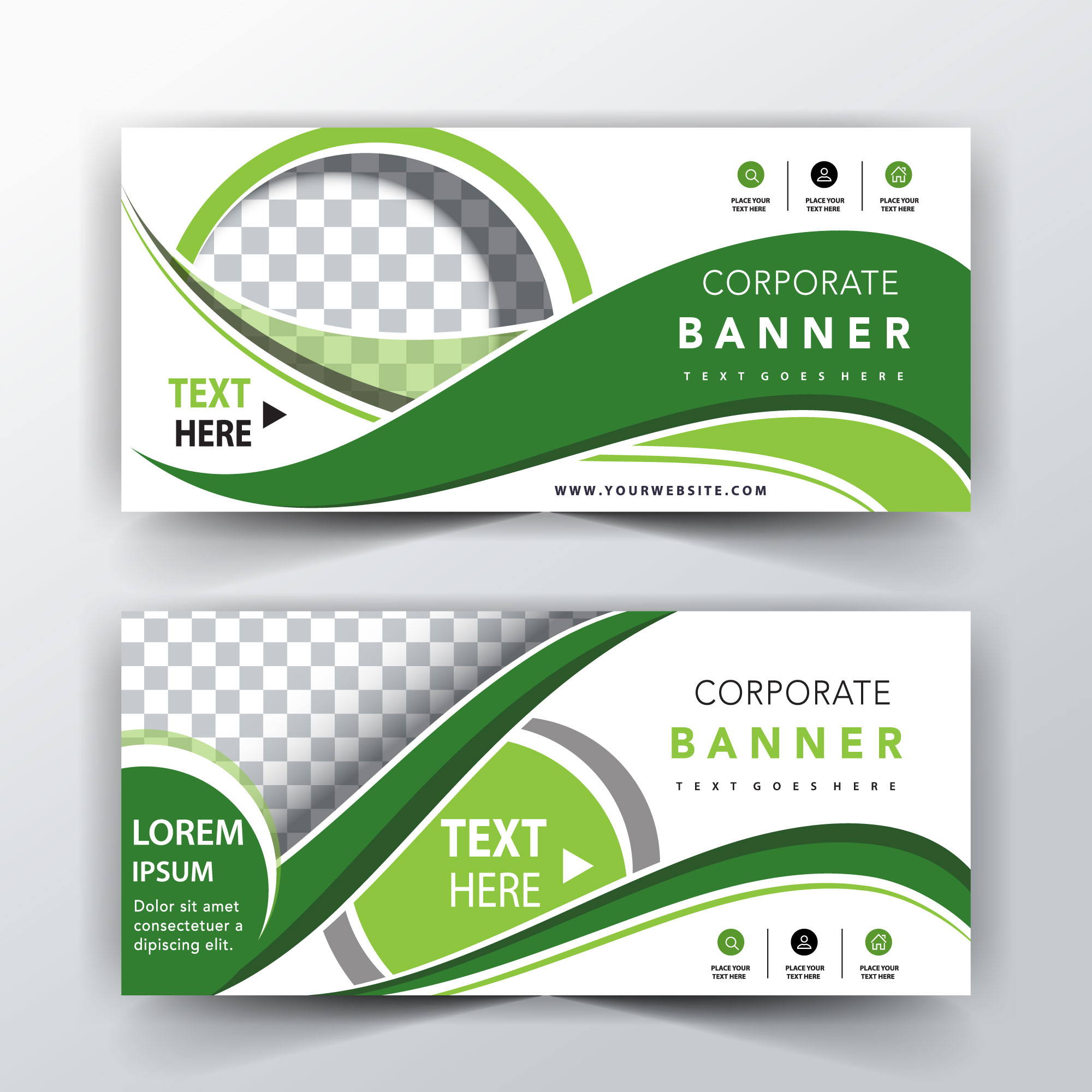 Green abstract header template