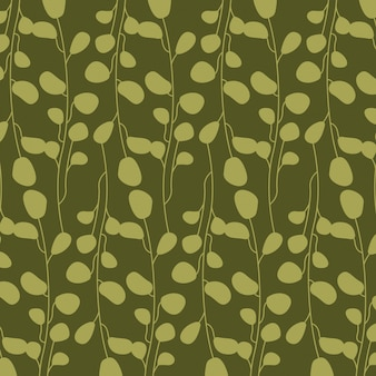 Green abstract leaves, pattern