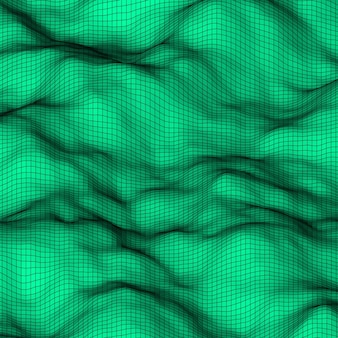 Green abstract lowpoly polygonal triangular mosaic elevation background for design weband prints