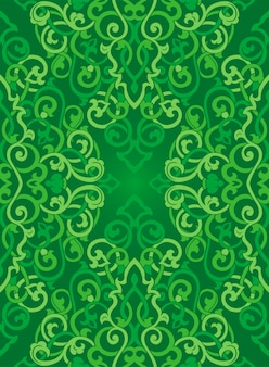 Green abstract pattern for textile.