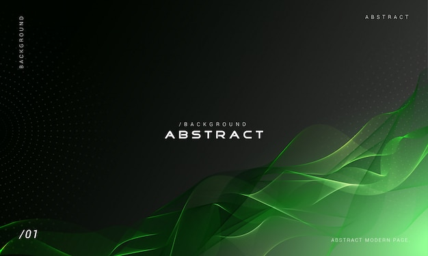 Green abstract smoke wave background