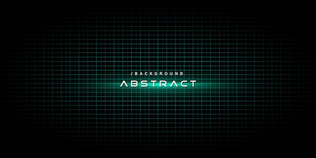 Green abstract technology background with light effect