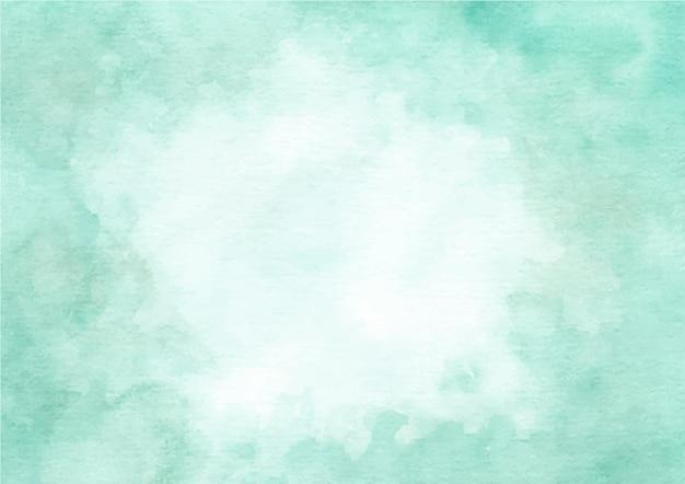 水彩で緑の抽象的なテクスチャ背景