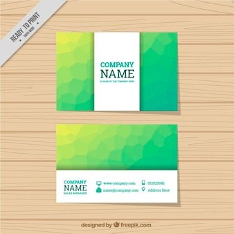 Green abstract visiting card