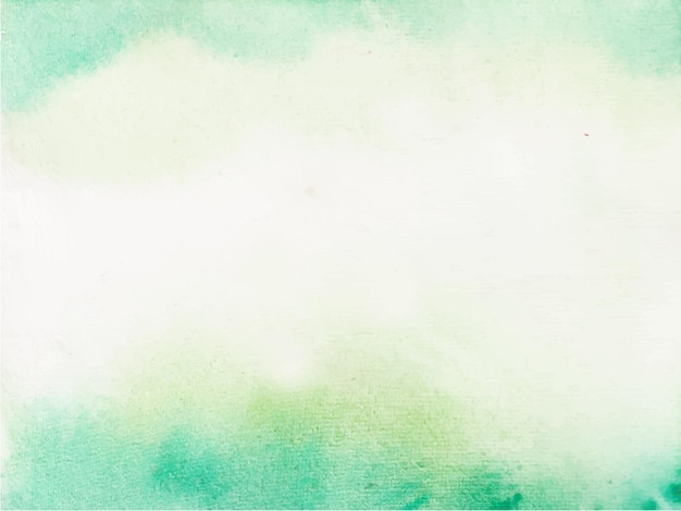 緑の抽象的な水彩画の背景、ハンドペイント。ページに色が飛び散る。