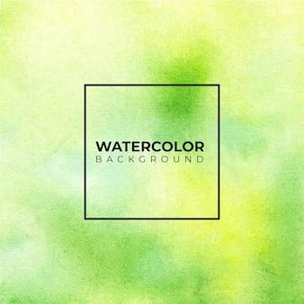 Зеленый абстрактный фон акварель, ручная краска.