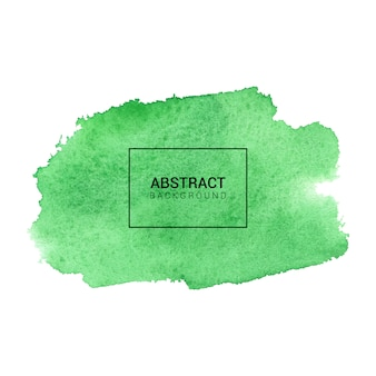緑の抽象的な水彩画の背景テクスチャ