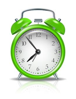 흰색 절연 녹색 알람 시계
