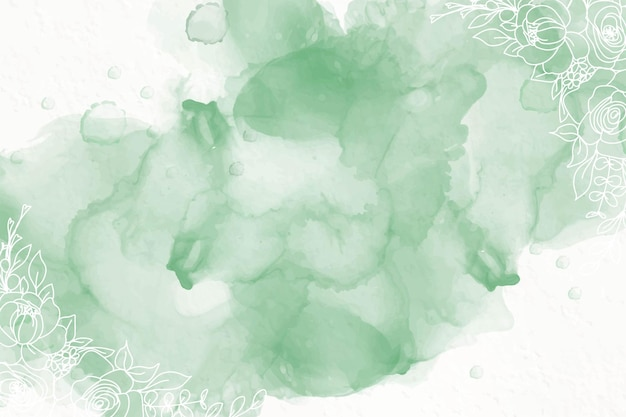 Green alcohol ink background