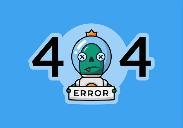 Зеленый инопланетянин со знаком ошибки
