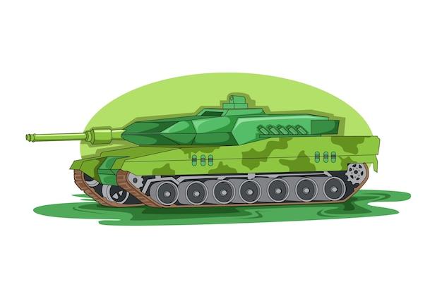 緑のアメリカ軍車両イラストベクトル