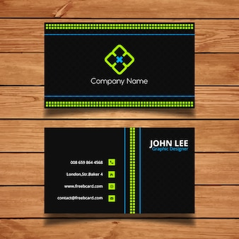 Green and black corporate card