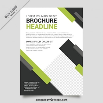 Green and black leaflet for business