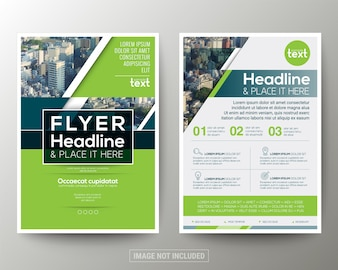 Green and Blue Poster Brochure Flyer template