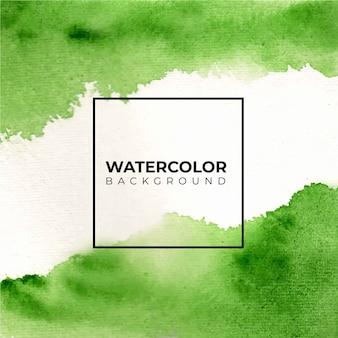 Зеленая и яркая абстрактная акварель текстуры фона