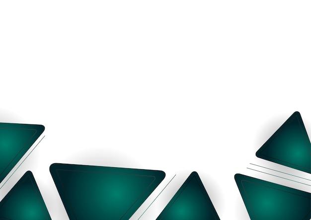 Шаблон сертификата цвета градиента зеленого и золотого абстрактного геометрического фона. костюм для фона презентации, баннера, плаката, флаера, обложки, визитки и многого другого