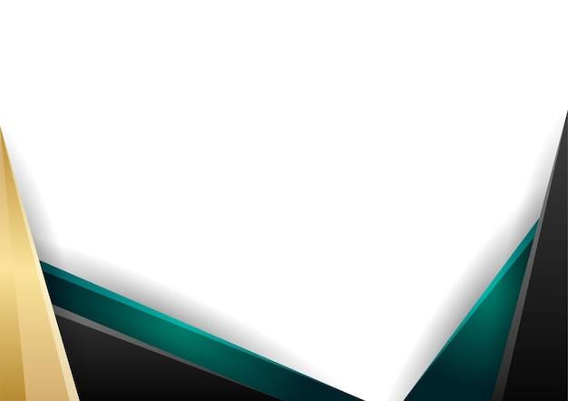 緑と金の抽象的な幾何学的な背景のグラデーションカラー証明書テンプレート。プレゼンテーションの背景、バナー、ポスター、チラシ、表紙、名刺などに適しています