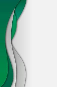 緑と灰色の曲線フレームテンプレート