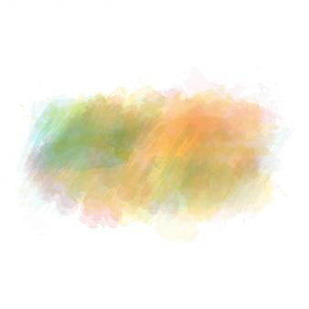 緑とオレンジ色の水彩画の塗装されたベクトル染色