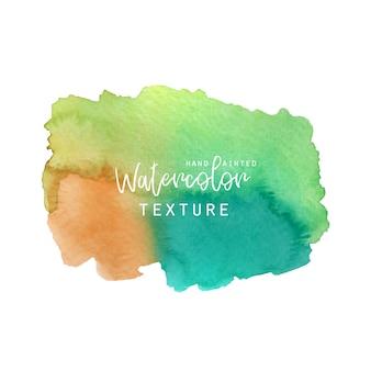 Зеленая и оранжевая акварельная текстура