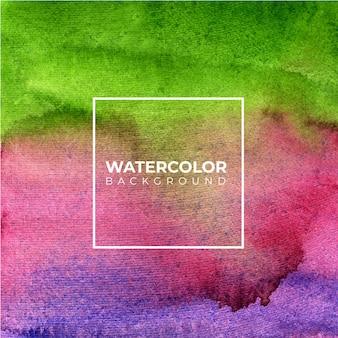 テクスチャ背景の緑と紫の抽象的な水彩画の背景