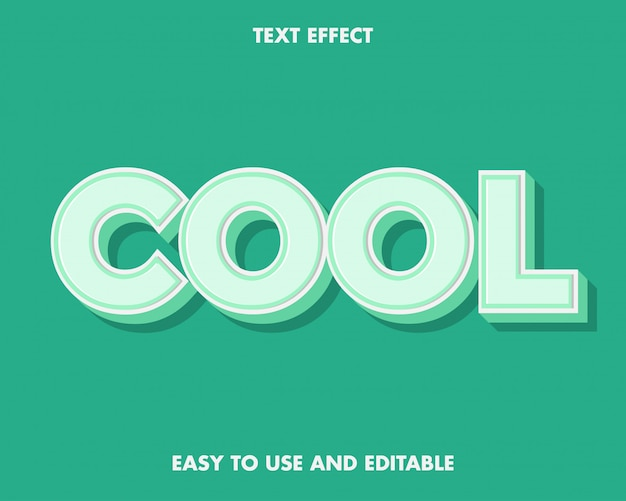 使いやすく編集可能な緑と白のクールなテキスト効果。