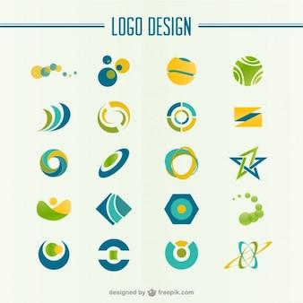 Векторные бесплатными шаблонами логотип