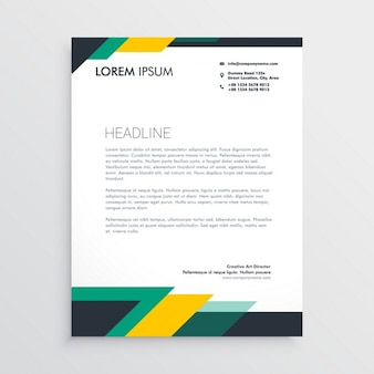 Green and yellow brochure