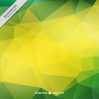 Green and yellow geometric background