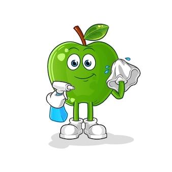 青リンゴクリーナー。漫画のキャラクター