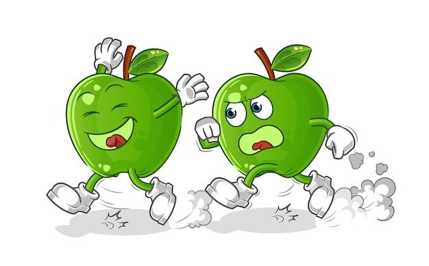青リンゴ遊び追跡漫画
