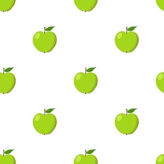 青リンゴのシームレスなパターン