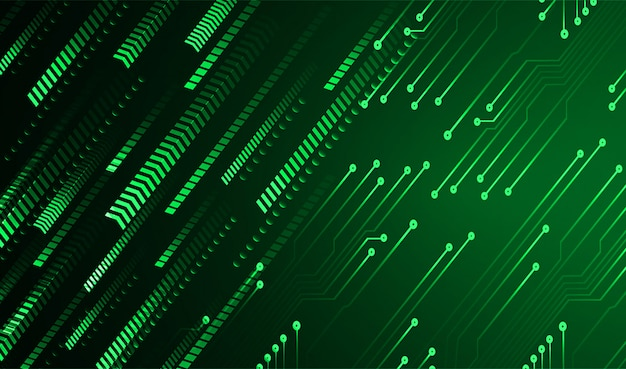 Green arrow cyber circuit future technology concept background