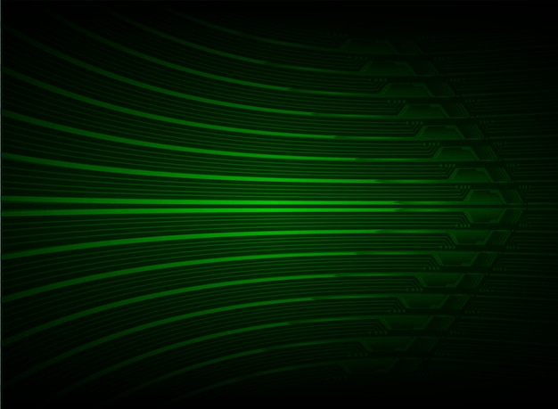 Green arrow cyber future technology background