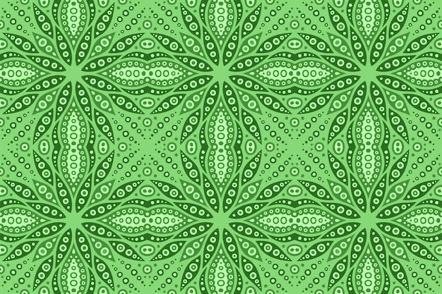 Green art with square seamless abstract pattern