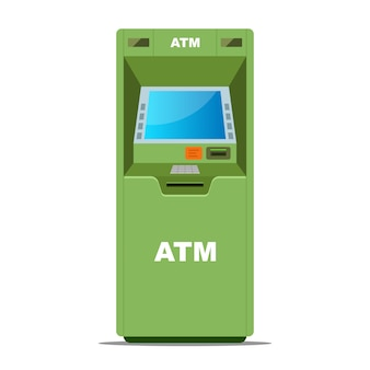 Green atm for withdrawing money