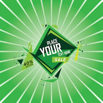 Green awesome banner design