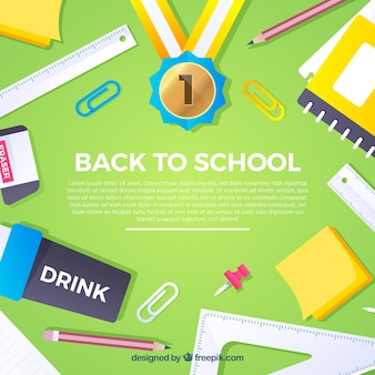 Green back to school background