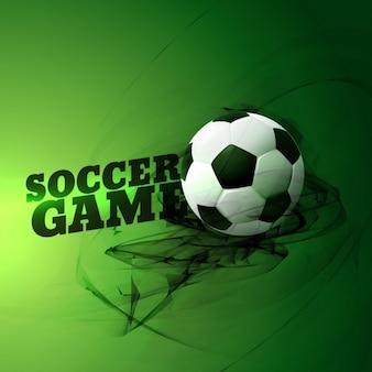 緑の背景に抽象的なサッカーの試合のイラスト