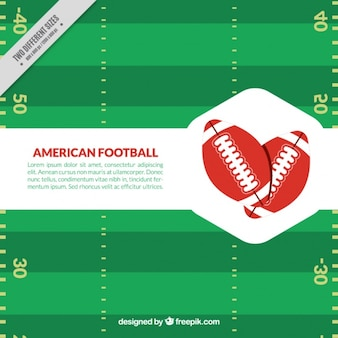 Green background of american football game