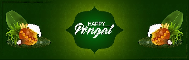 Green background for happy pongal