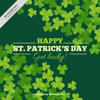 Green background of clovers saint patrick's day