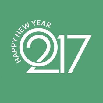 ようこそ2017グリーンの背景創造的タイポグラフィ