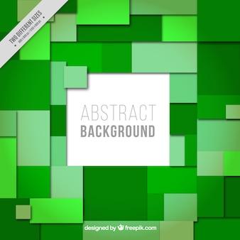 Sfondo verde di rettangoli e quadrati