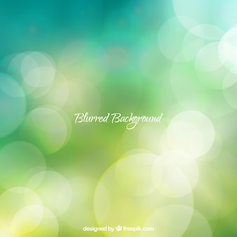 Green background with a bokeh effect