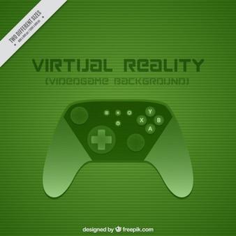 Зеленый фон с игровым контроллером