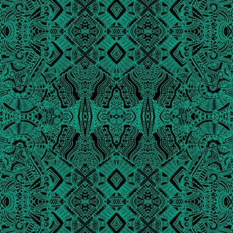 Green background with aztec shapes