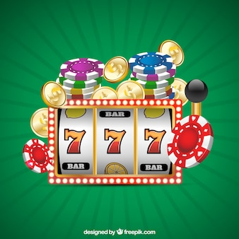 Green background with casino games