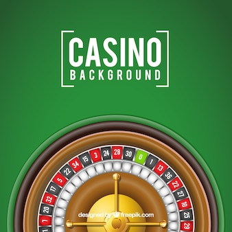 Green background with casino roulette